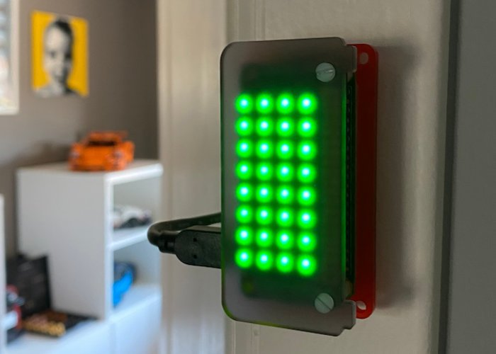 Raspberry Pi home office status light project