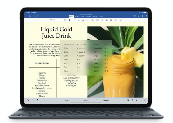 iPad Microsoft Office suite