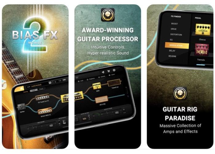 BIAS FX 2 mobile guitar tone app