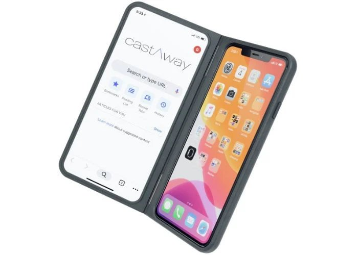 Add a second screen to your smartphone with the castAway case - Geeky Gadgets