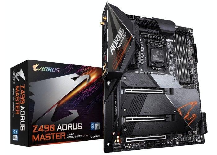 Gigabyte Z490 AORUS motherboards