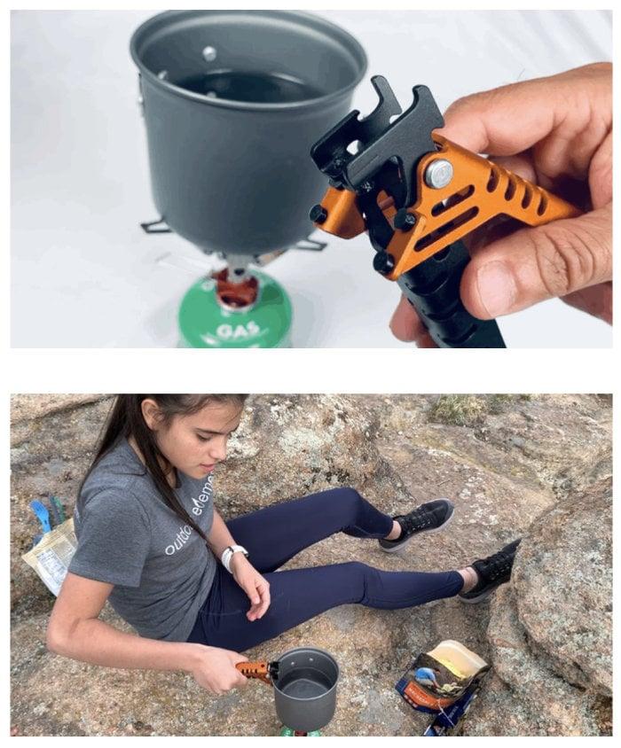 camping pot gripper