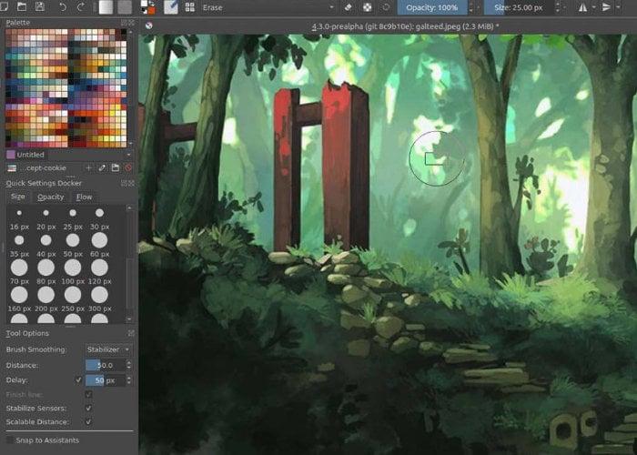 Krita open source painting app