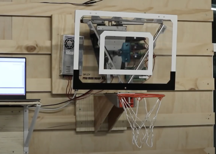 Robotic basketball backboard