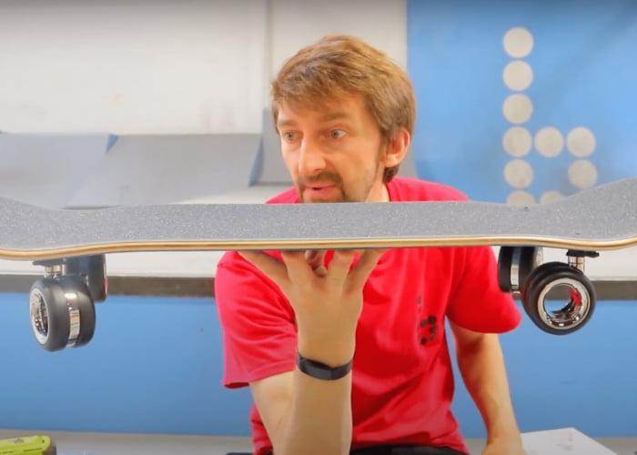 Skateboard built using $700 Apple Mac Pro wheels