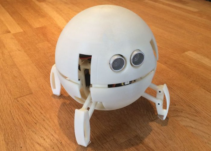 Spherical quadruped robot with obstacle avoidance - Geeky Gadgets