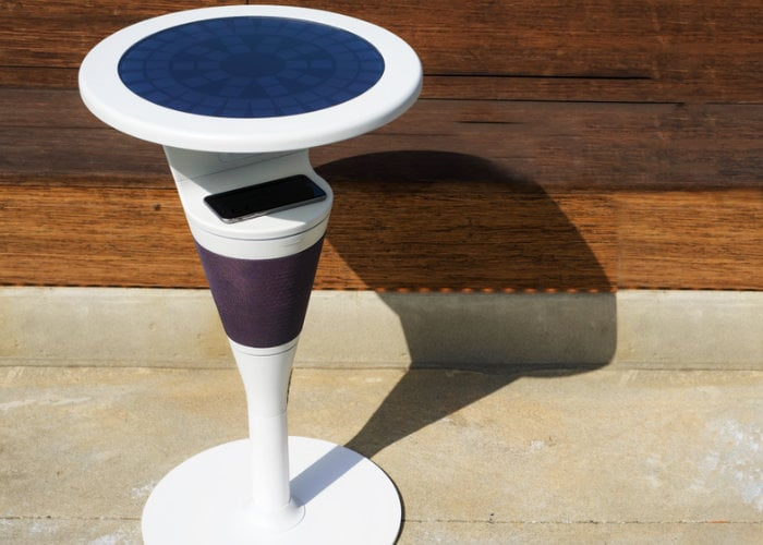 Suntable offer solar wireless charging and JBL speaker system in one - Geeky Gadgets