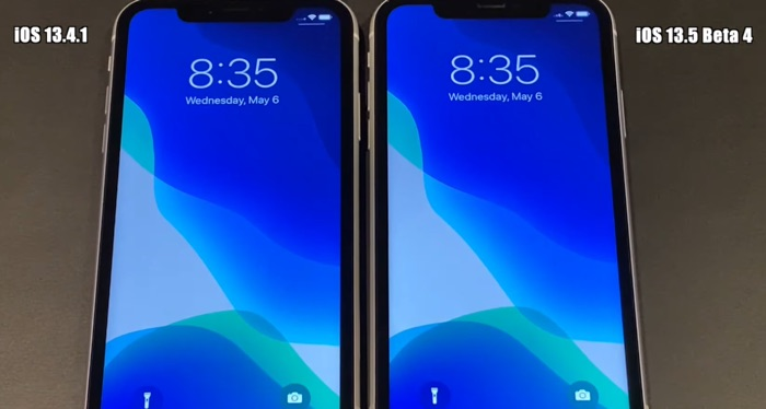 iOS 13.5 beta 4 vs iOS 13.4.1
