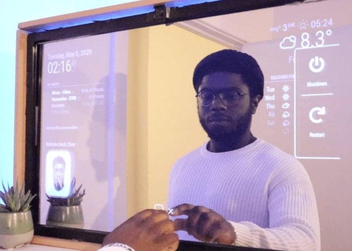 Touchscreen smart mirror
