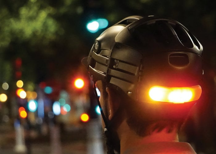 BLINXI smart helmet light for cyclists