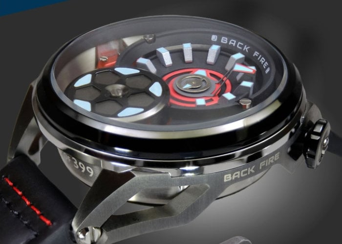 Backfire automatic watch sports unique transmission system movement - Geeky Gadgets
