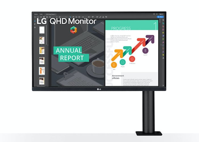 LG  QHD Ergo IPS monitor