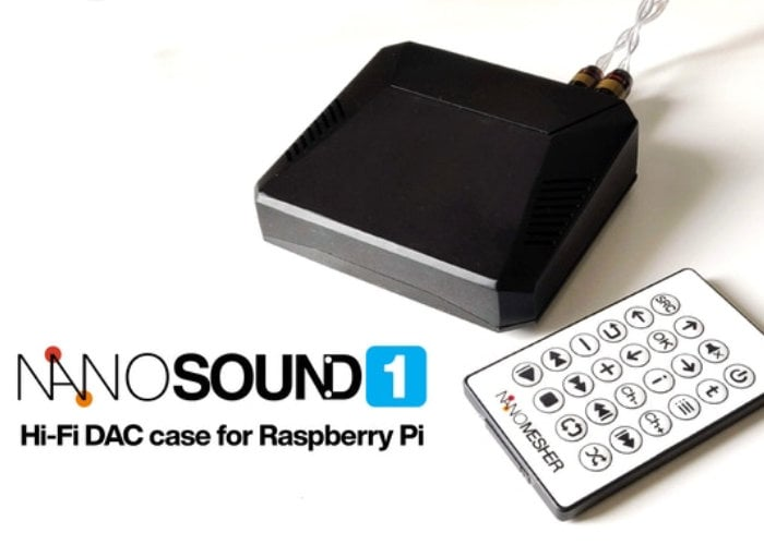 NanoSound ONE Raspberry Pi Hi-Fi DAC case