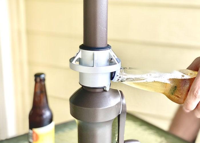 umbrella pole bottle opener