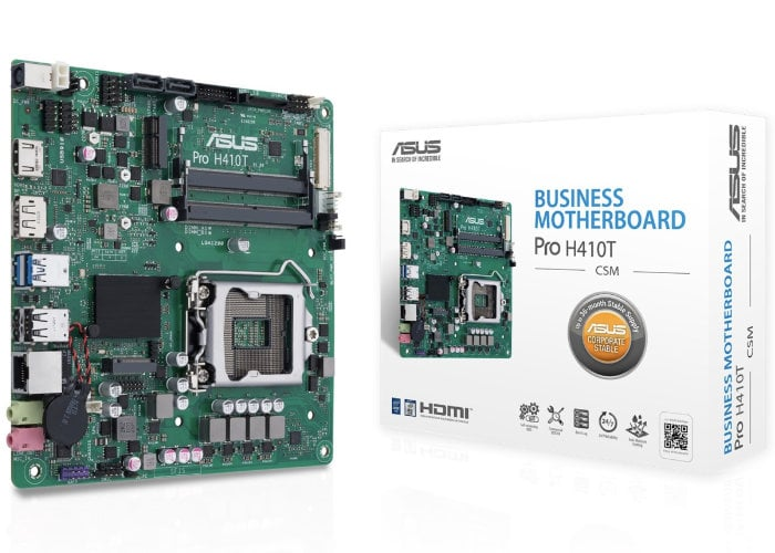 ASUS Thin Mini ITX H410 business motherboard