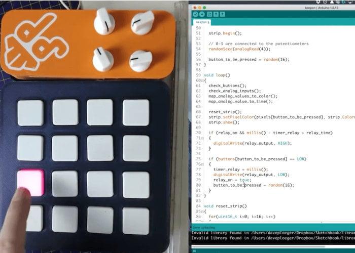 Arduino custom switch console