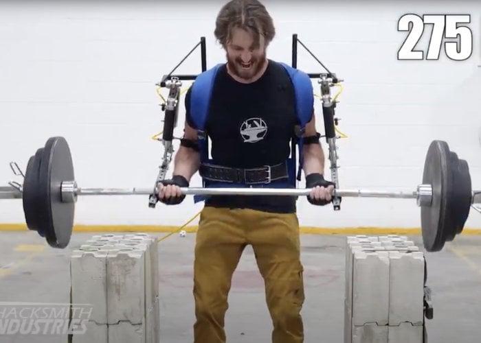 Exoskeleton breaking curling World Record