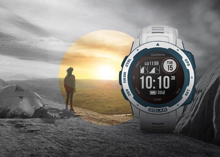 Garmin solar charging smartwatches