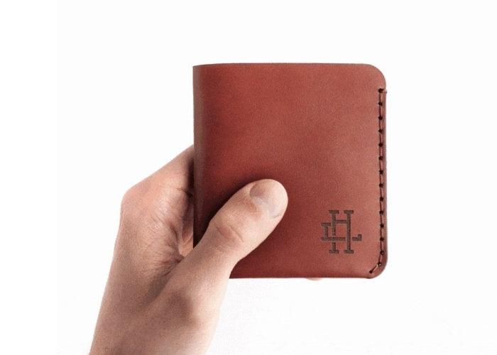 Monogram minimalist wallet