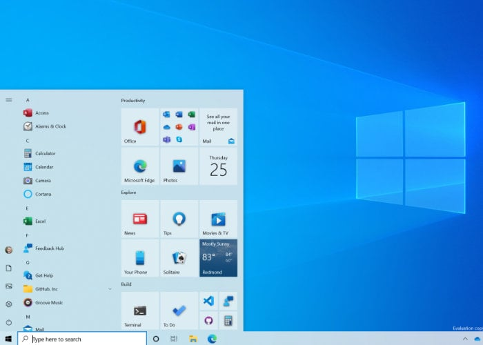 Windows 10 Start Menu updated by Microsoft in latest Insider Preview Build 20161 - Geeky Gadgets
