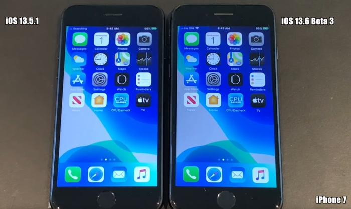 iOS 13.6 beta 3 vs iOS 12.5.1