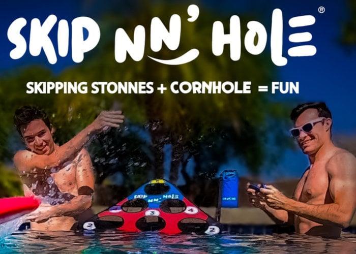 Skip NN' Hole stone skimming game