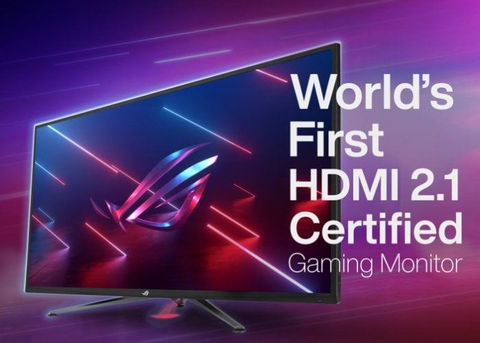 World's first HDMI 2.1 Certified gaming monitors introduced by ASUS - Geeky Gadgets