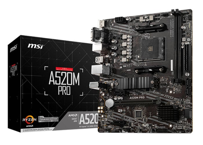 MSI AMD A520 motherboards