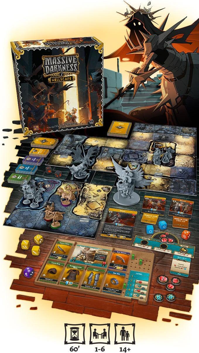 Massive Darkness 2 board game