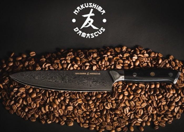 Nakushima Damascus chef knife collection hit Kickstarter - Geeky Gadgets