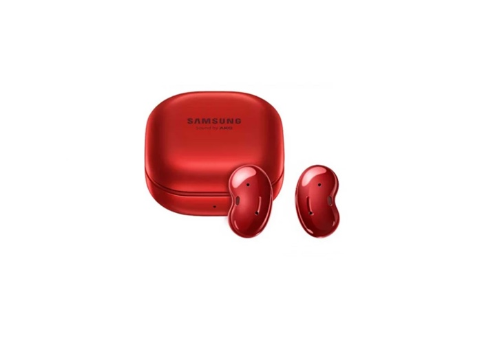 Red Samsung Galaxy Buds Live