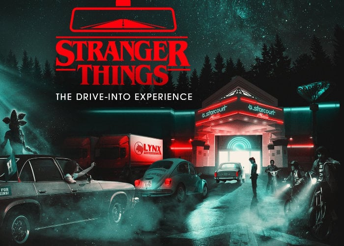 Stranger Things drive-through experience