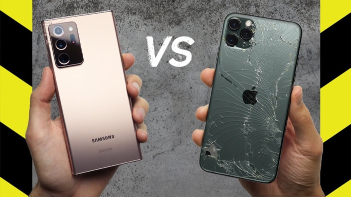 Drop Test: Samsung Galaxy Note Ultra vs iPhone 11 Pro Max (Video) - Geeky Gadgets