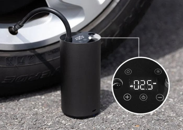 MOJIETU digital, smart portable tire inflator $49 - Geeky Gadgets