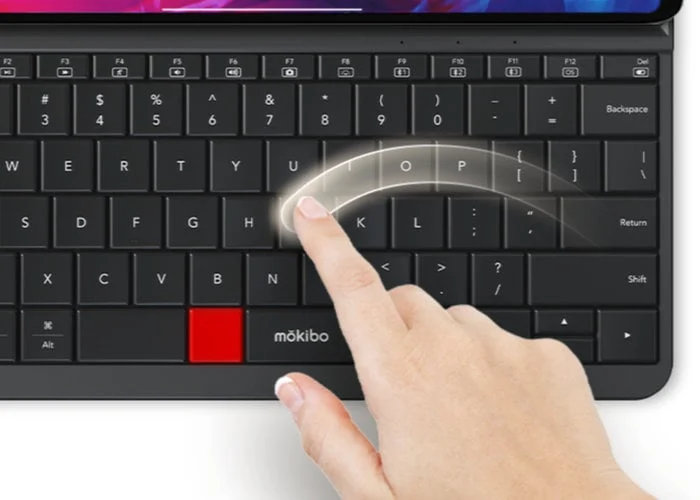 Mokibo iPad keyboard case with gesture control