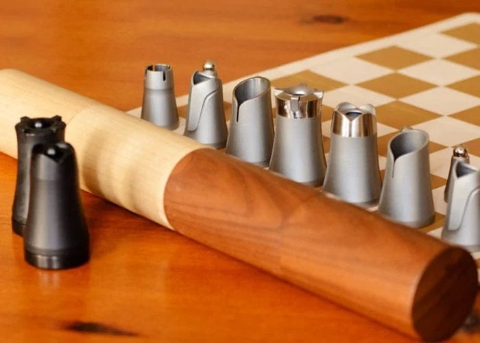 Unique nesting travel chess set from $35 - Geeky Gadgets
