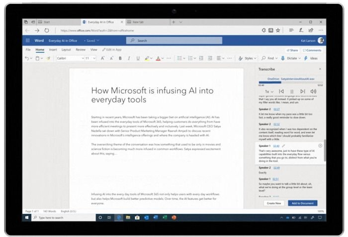 Microsoft Word Now Transcribes Audio - Geeky Gadgets