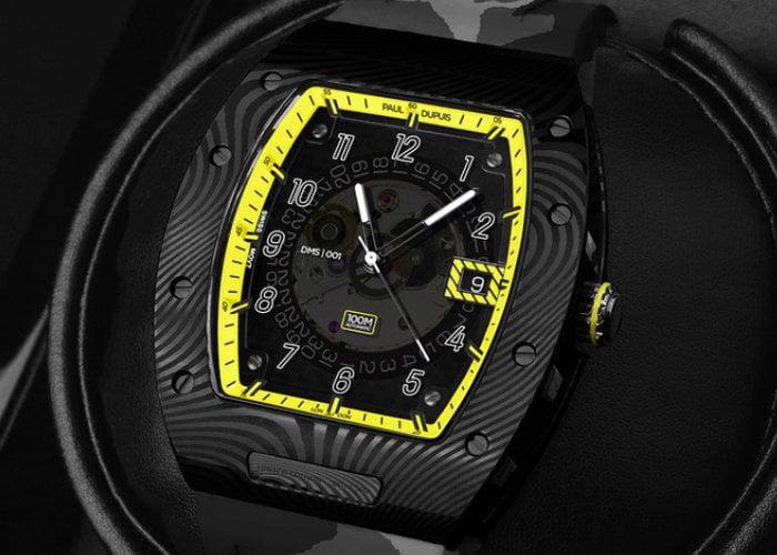 Damascus steel sports watch