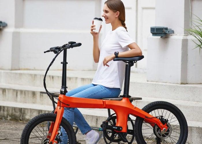 Eole ultra-light carbon fiber folding electric bike