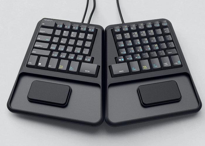 Zergotech Freedom ergonomic mechanical keyboard