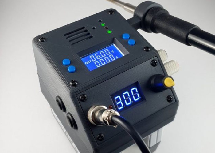 3D printed mobile soldering station and power supply - Geeky Gadgets