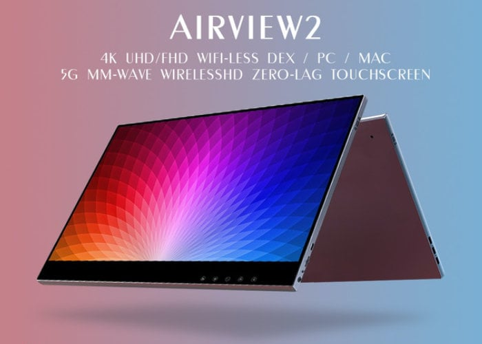 AirView2 wireless, touchscreen 4K portable monitor - Geeky Gadgets