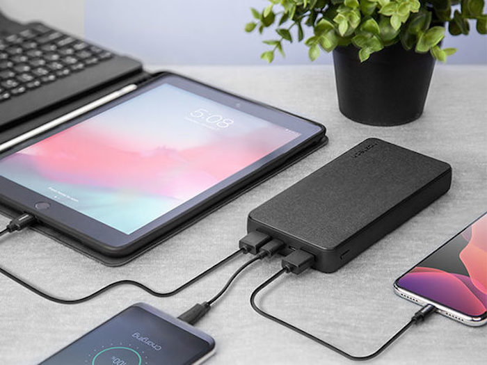 Save 33% on the Naztech 20,000mAh 18W PD + QC3.0 Fabric Power Bank