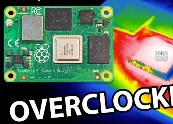 Overclocked Raspberry Pi Compute Module 4