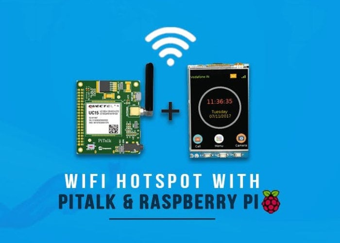 Raspberry Pi smartphone and hotspot project using PiTalk - Geeky Gadgets