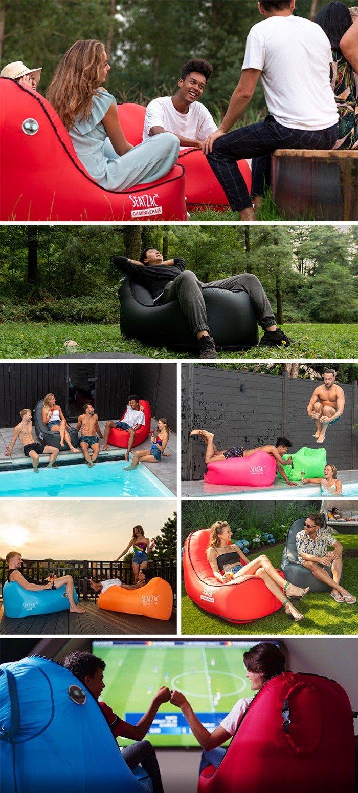 Seatzac self-inflating chair