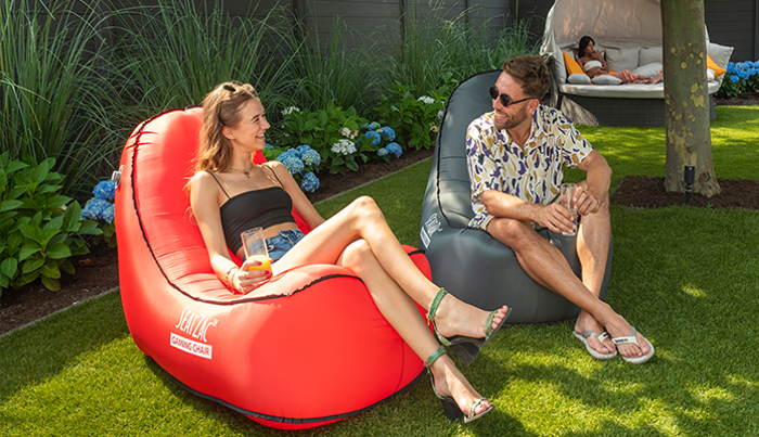 self-inflating chair
