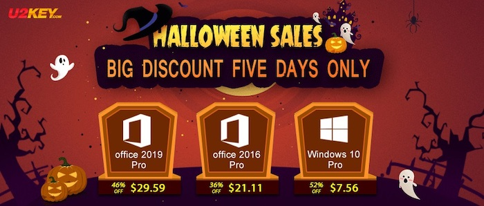 Halloween Sales: Windows 10 Pro with $7.56 and Office 2016 Pro with $21.11 - Geeky Gadgets