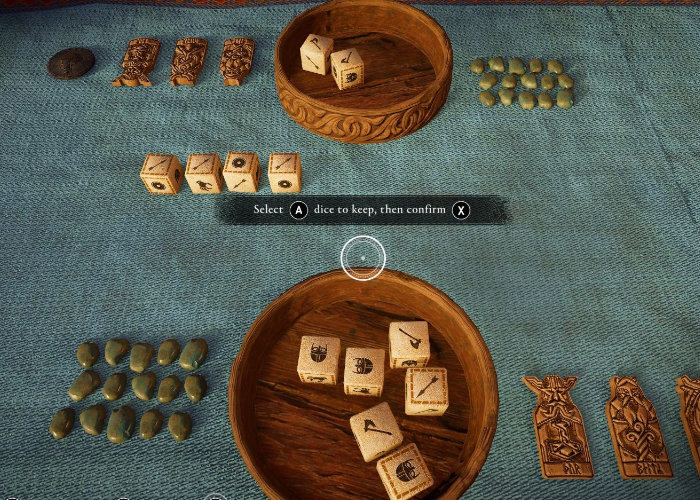 Assassin's Creed Valhalla's Orlog dice game