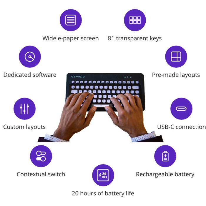 Nemeio ePaper keyboard